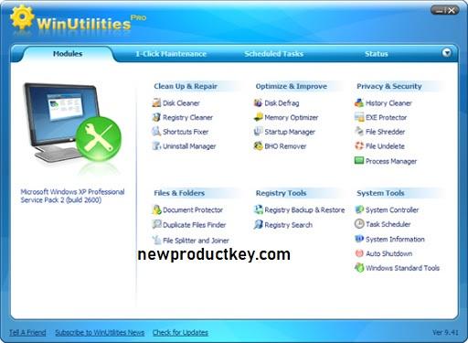 WinUtilities Pro Serial Key